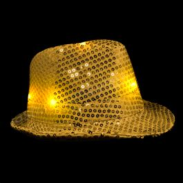 magical winter lights coupon led fedora hat with gold sequins magic matt s