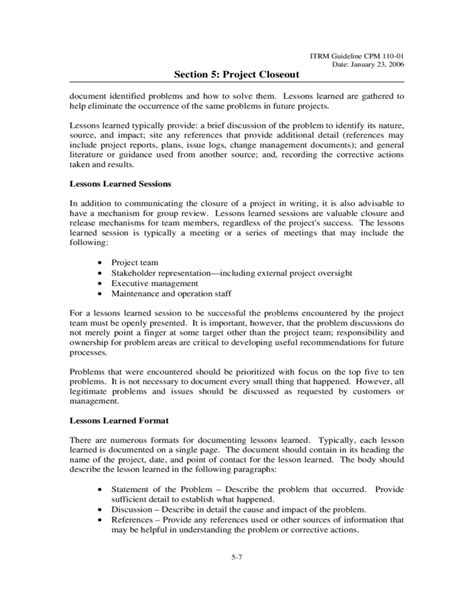 Contract Closeout Letter Project Closeout Template Virgina Free