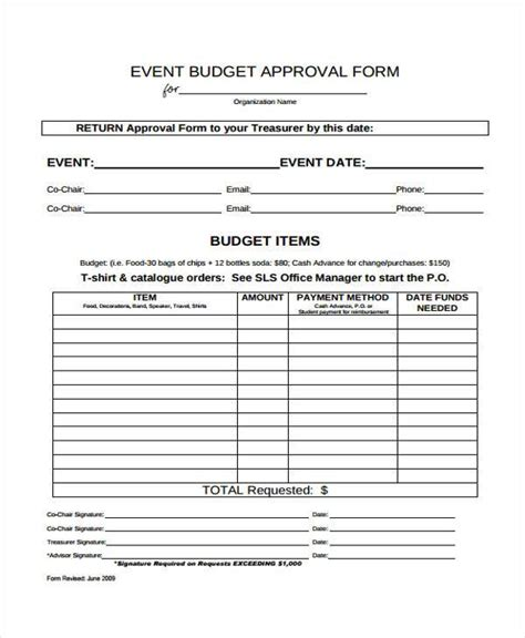 budget expenditure template budget form templates
