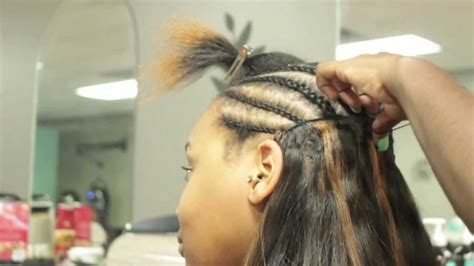 hair do with sew in weave with a part in the middle full sew in weave inspired by kim k youtube