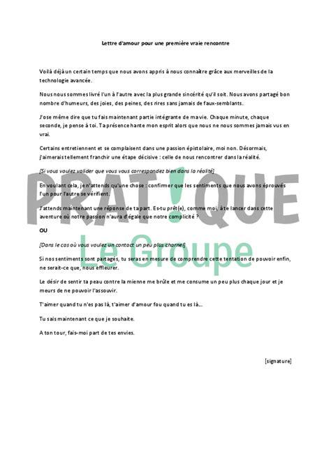 Exemple De Lettre D ã Tã Lettre D Amour Pour Une Premi 232 Re Vraie Rencontre Pratique Fr