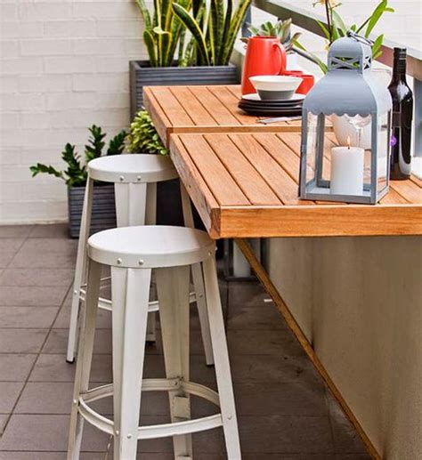 Diy Breakfast Bar Table A Foldaway Table Is The Ideal Solution For A Small Space Balcony Put It Up For Drinks And