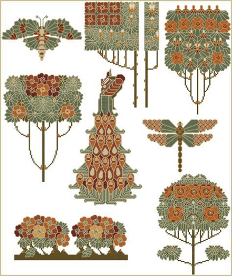 nouveau garden nouveau garden cross stitch designs set