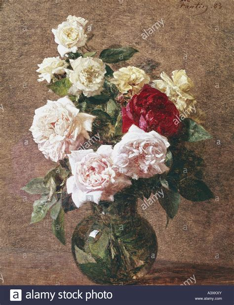 Painting Flowers In A Vase by Quot Arts Fantin Latour Henri 1836 1904 Painting