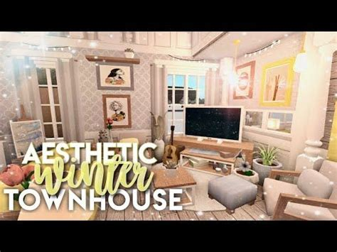 bloxburg aesthetic winter townhouse youtube