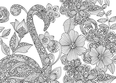 valentina designs coloring pages flamingo puzzle drawing by valentina harper