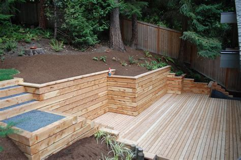 Landscape Timber Wall Ideas Timber Walls And Steps