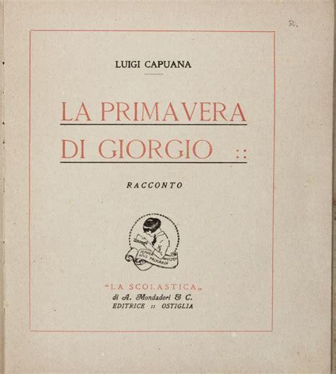 libreria scolastica roma eur capuana luigi la primavera di giorgio racconto