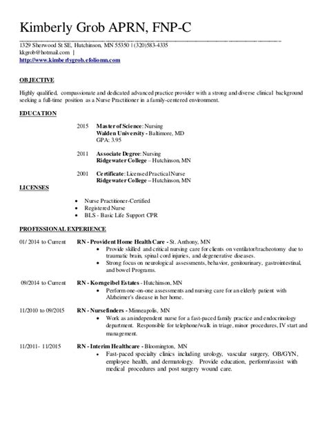 family nurse practitioner resume