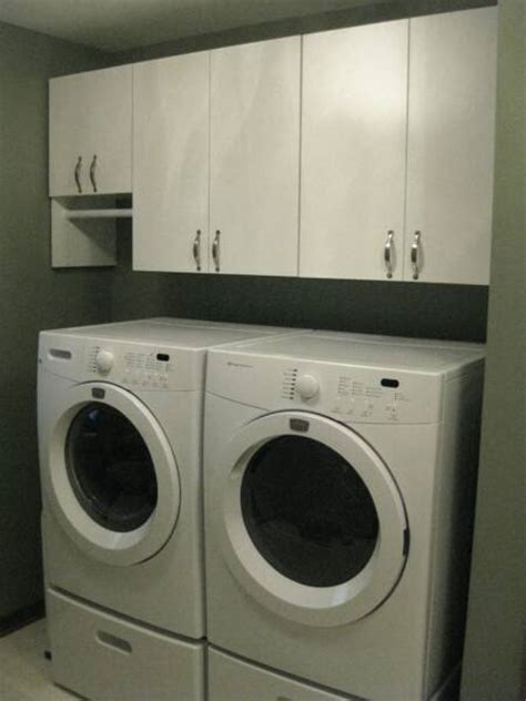 washer and dryer cabinets laundry room