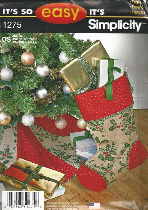 craft pattern simplicity 1275 christmas tree skirt and