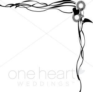 Wedding Side Border by Trailing Sunflowers Border Wedding Flower Borders