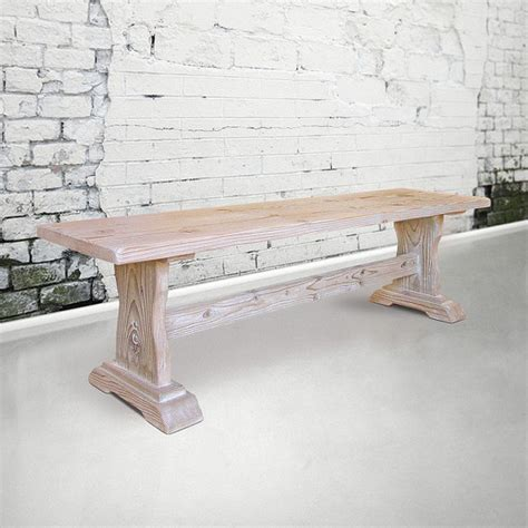 Handmade Wood Dining Tables - bench table reclaimed wood dining table handmade kitchen