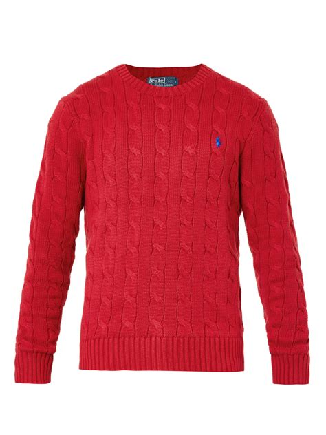 polo knit sweater polo ralph cable knit crewneck sweater in for