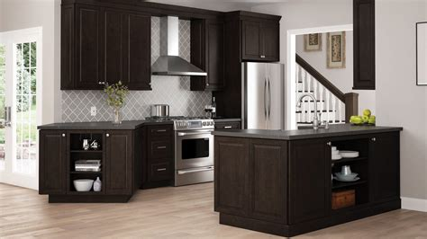 gretna double oven cabinets  espresso kitchen