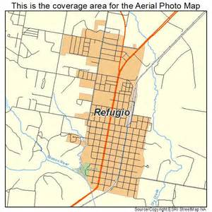 aerial photography map of refugio tx