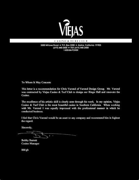 Letter Of Recommendation Designer varond design inc letters of reference