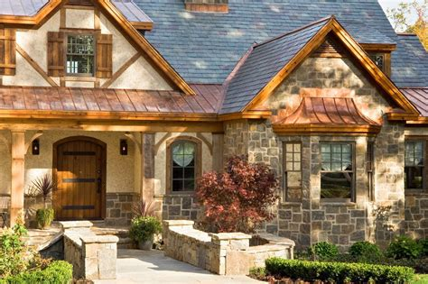 Stucco gable roof home pictures exterior rustic with metal roof rustic front doors