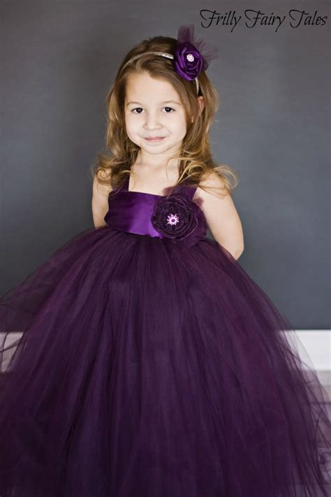 plum colored flower dresses plum eggplant flower tutu dress flower and