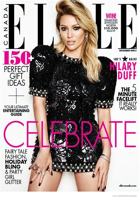 Hilary Duff Keeps Clothes On For Fhm by Hilary Duff For Canada December 2014 Lulus