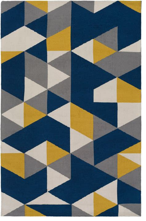 Blue And Yellow Rugs by Joan Joan 6087 Navy Blue And Yellow And Gray