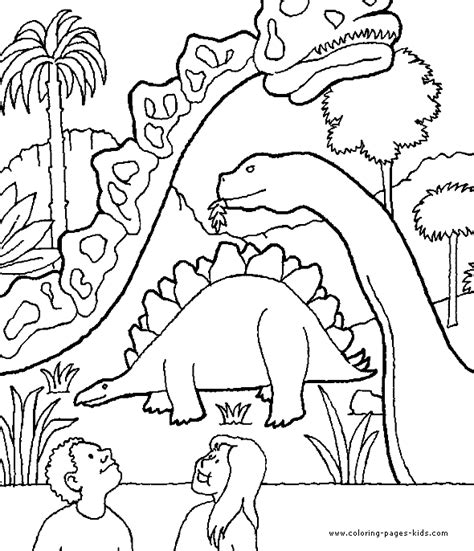 animal dinosaurs coloring pages dinosaur painting color page