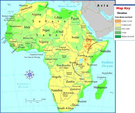 africa map rivers and mountains africa map with mountains and rivers www imgarcade
