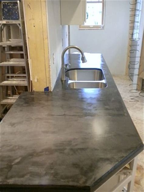 Plywood Countertop Finish by Diy Feaux Crete Countertops Concrete Troweled