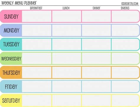 weekly menu planner template word the 25 best ideas about meal planning templates on