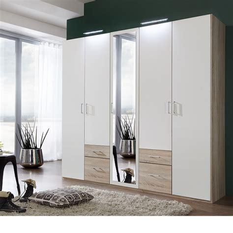 Wardrobe With Mirror For Sale by Fresh Wardrobe 4 Doors 1 Mirror Door 4 Drawers 25546