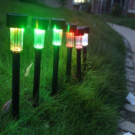 Solar Powered Landscape Lights 10 Pcs Solar Garden Led Landscape Light Solar Power Outdoor Path Light Spot L Garden Lawn