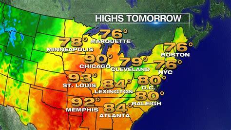 tomorrow s weather map weather nyc tomorrow