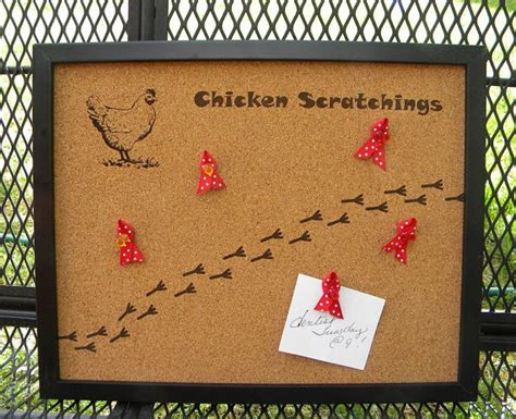 Bulletin Board Kitchen by Chicken Bulletin Board Laser Engraved Kitchen Home