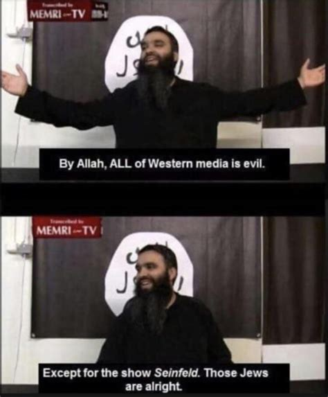 Memri Tv Memes - everything is haram except for seinfield memri tv know your meme