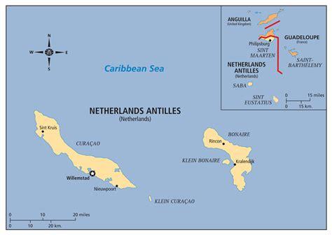 netherlands antilles map large detailed political map of netherlands antilles