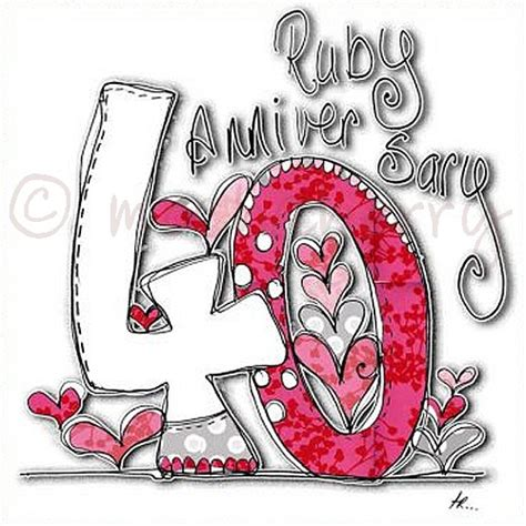 Ruby Wedding Cards   40th Anniversary Cards   Wedding
