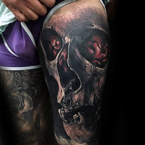 3d skull tattoo 50 3d skull designs for cool cranium ink ideas