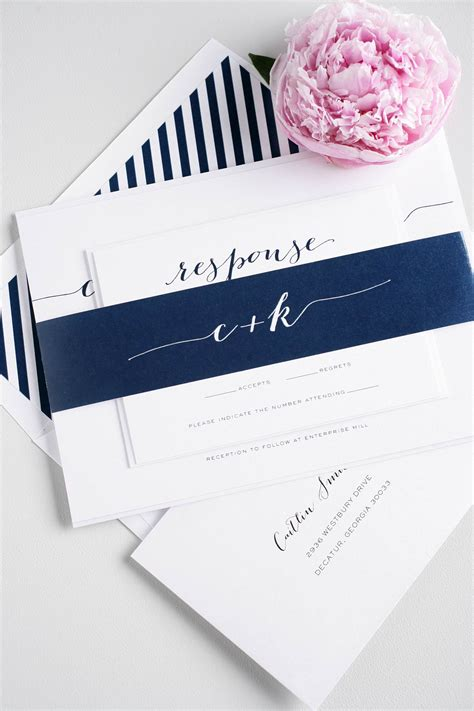 Wedding Invitations Navy by Navy Script Wedding Invitations Wedding Invitations