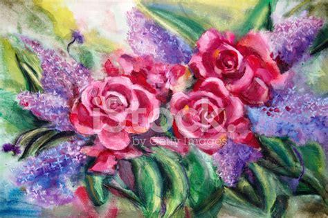 pitture di fiori pittura di natura morta bouquet fiori ad fotografie stock