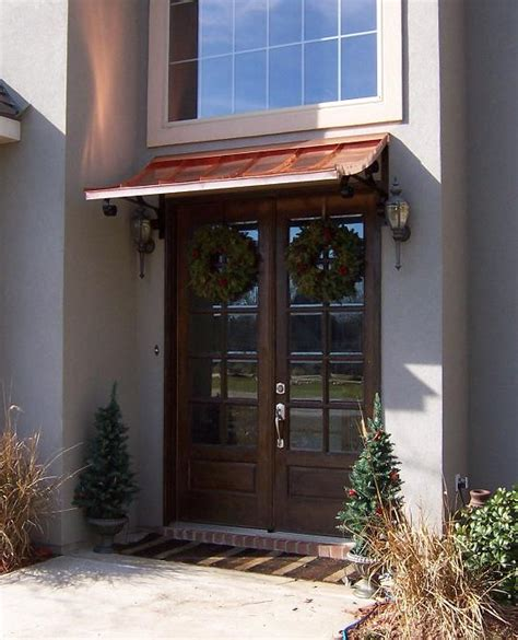door awnings copper the concave gallery copper awnings projects gallery of awnings