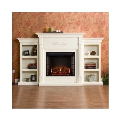 fireplace display large electric fireplace mantel heater storage shelves