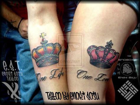 matching crown tattoos his and hers crown tattoos by enoki soju by enokisoju