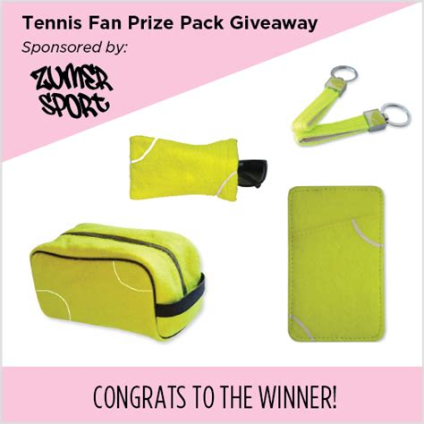 Tennis Giveaways - giveaway zumer sport tennis fan prize pack the style ref the fashion authority