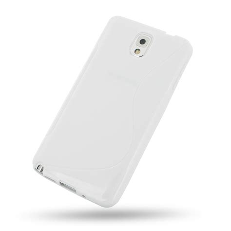 Softcase Samsung Note 3 samsung galaxy note 3 soft white s shape pattern pdair