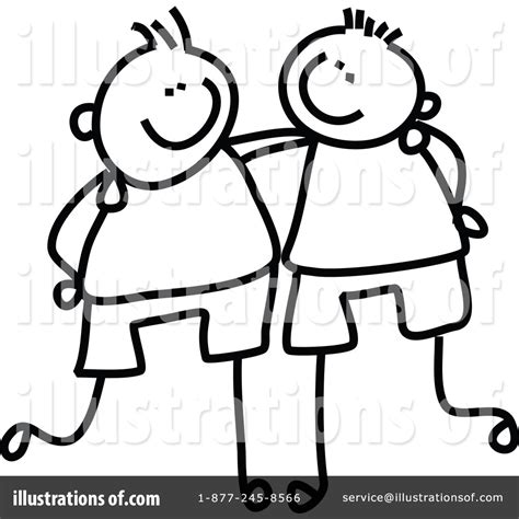 doodle buddy how to draw with friend friends clipart 215616 illustration by prawny