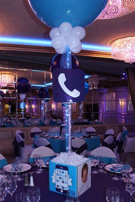 Iphone Themed Bat Mitzvah with Custom App Centerpieces