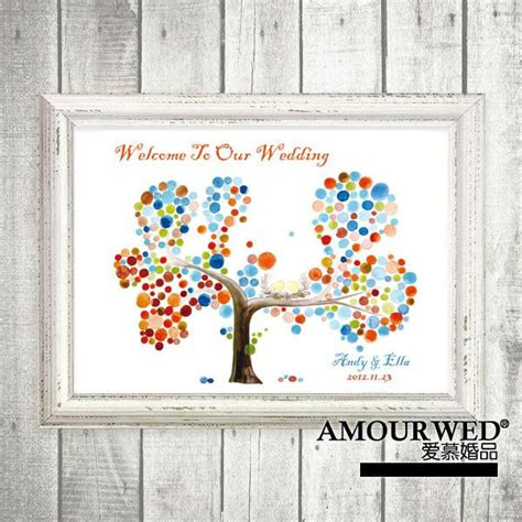 Alternative Baby Shower by A3 Personalised S Tree Fingerprint Wedding Guest Book