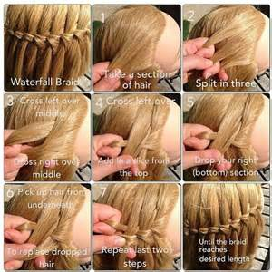 waterfall hairstyle step by step easy waterfall braid javeria meer