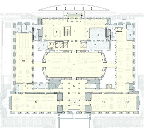 layout of powerhouse gallery of st louis public library cannon design 8