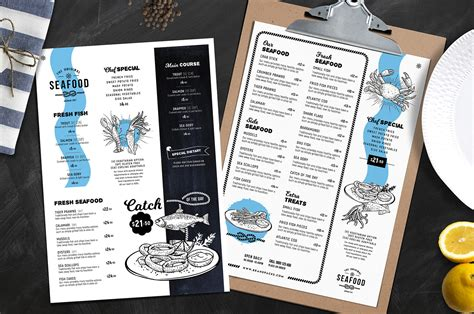 seafood menu templates a4 seafood menu templates in psd ai vector brandpacks